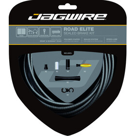 Jagwire Road Elite Rem binnenkabel- & Behuizing sealed kit zwart
